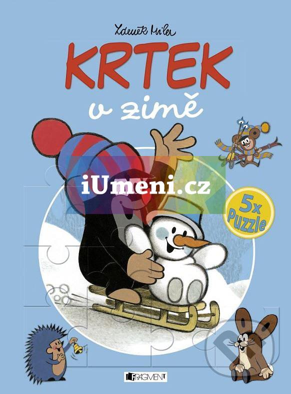 KRTEK v zimě – 5x puzzle - Zdeněk Miler, Milena Fischerová