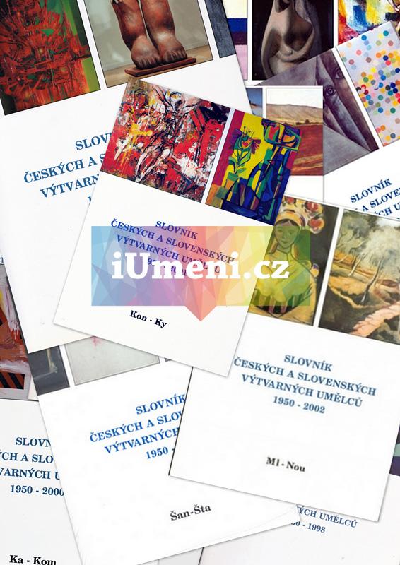 Slovník českých a slovenských výtvarných umělců 1950 - 1998, D-Z, 20 dílů vč. signatur - kolektiv autorů
