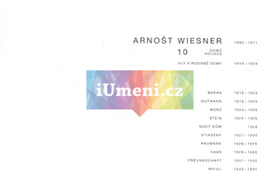 Arnošt Wiesner – 10 domů: Vily a rodinné domy - Ivan Wahla a Petr Pelčák